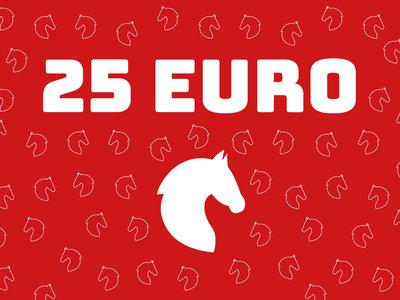 Cadeaubon van 25 euro zonder korting